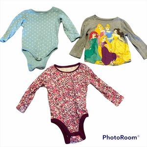 Bundle of 3 12-18 month old navy long sleeve tops